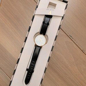 Kate Spade Metro Monogram Leather Watch